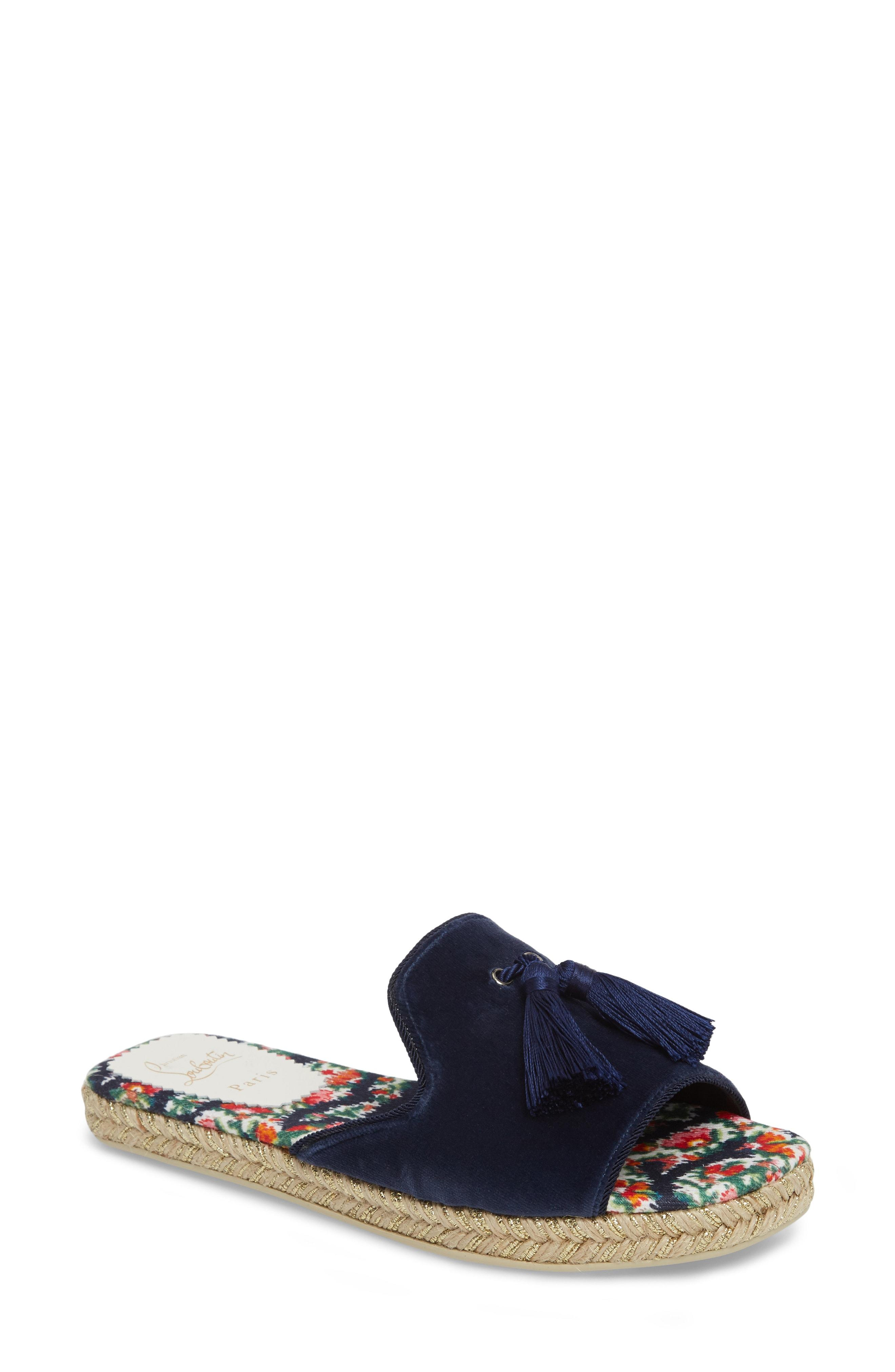 c0013714006f Christian Louboutin Pacha Flat Espadrille Sandal In Blue Multi ...