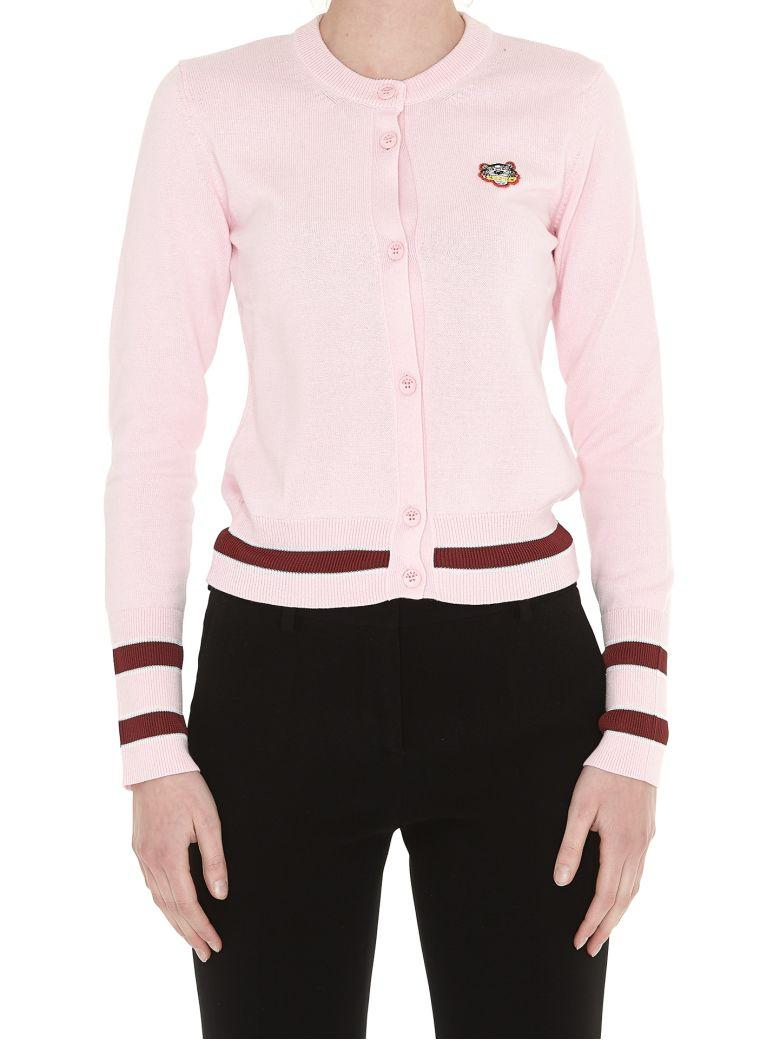 dba0b0b8 Kenzo Tiger Crest Cotton-Blend Knit Cardigan In Rose Flamant | ModeSens