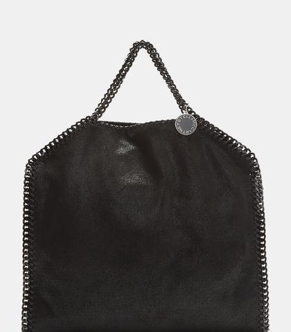 Stella Mccartney Small Falabella Chain Tote Bag In Black