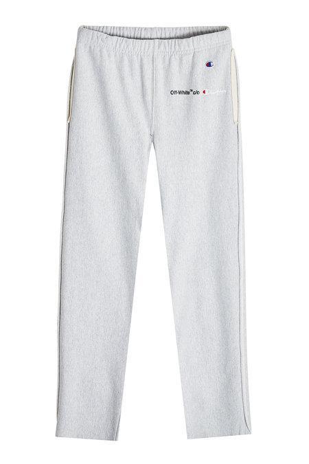 93a82f527f6301 Off-White X Champion Cotton Sweatpants In Grey | ModeSens