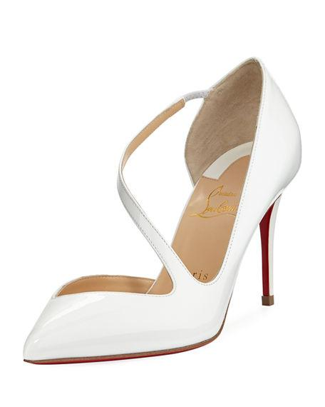 ececb2789b29 Christian Louboutin Jumping Patent Leather Pumps - White