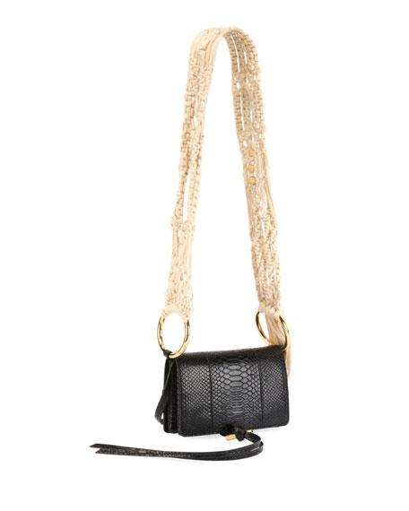 c048dde6824a Stella Mccartney Small Flo Alter Snake Faux Leather Shoulder Bag - Black In  1000 - Black