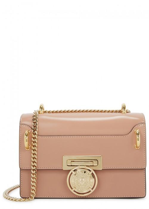 b88ff3c084d Balmain Glace Leather Box Shoulder Bag - Pink | ModeSens