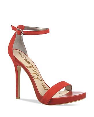 Sam Edelman Eleanor Suede Sandals In Desert Red