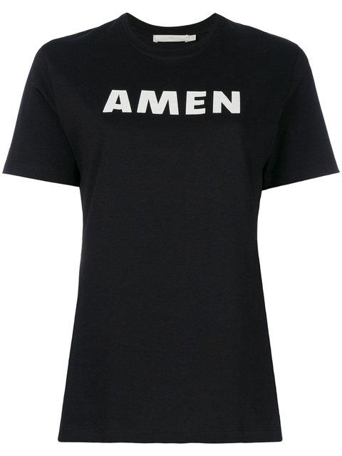 Amen Cotton Jersey T-shirt In 009 Black