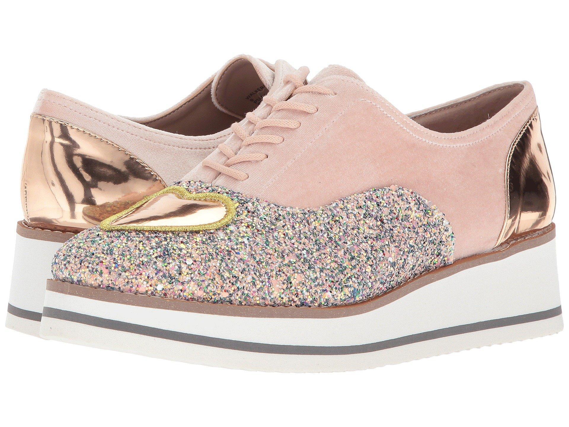 ae9d4716e0e5 Betsey Johnson Walker Embellished Oxfords Women s Shoes In Blush Multi