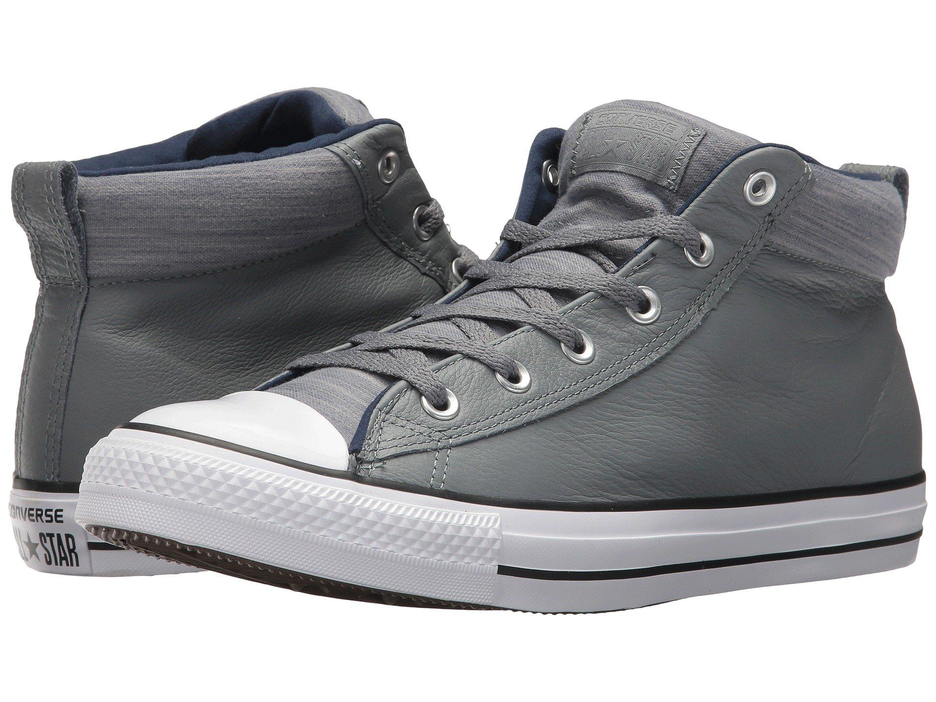 74a34fbdcf41 Converse Chuck Taylor® All Star® High Street Leather W  Fleece Mid In Cool