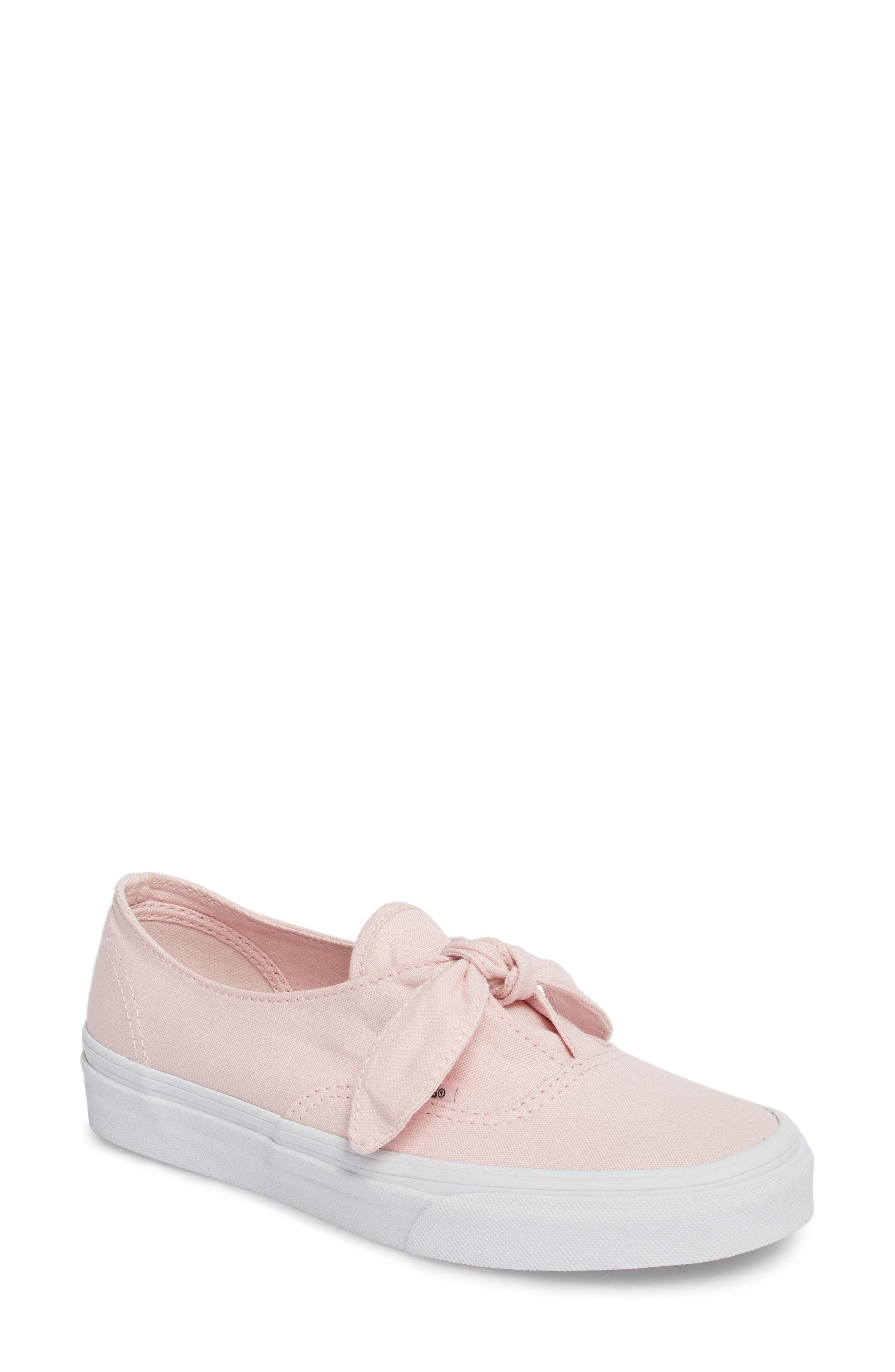 332f0151e3 Vans Ua Authentic Knotted Slip-On Sneaker In Chalk Pink  True White ...