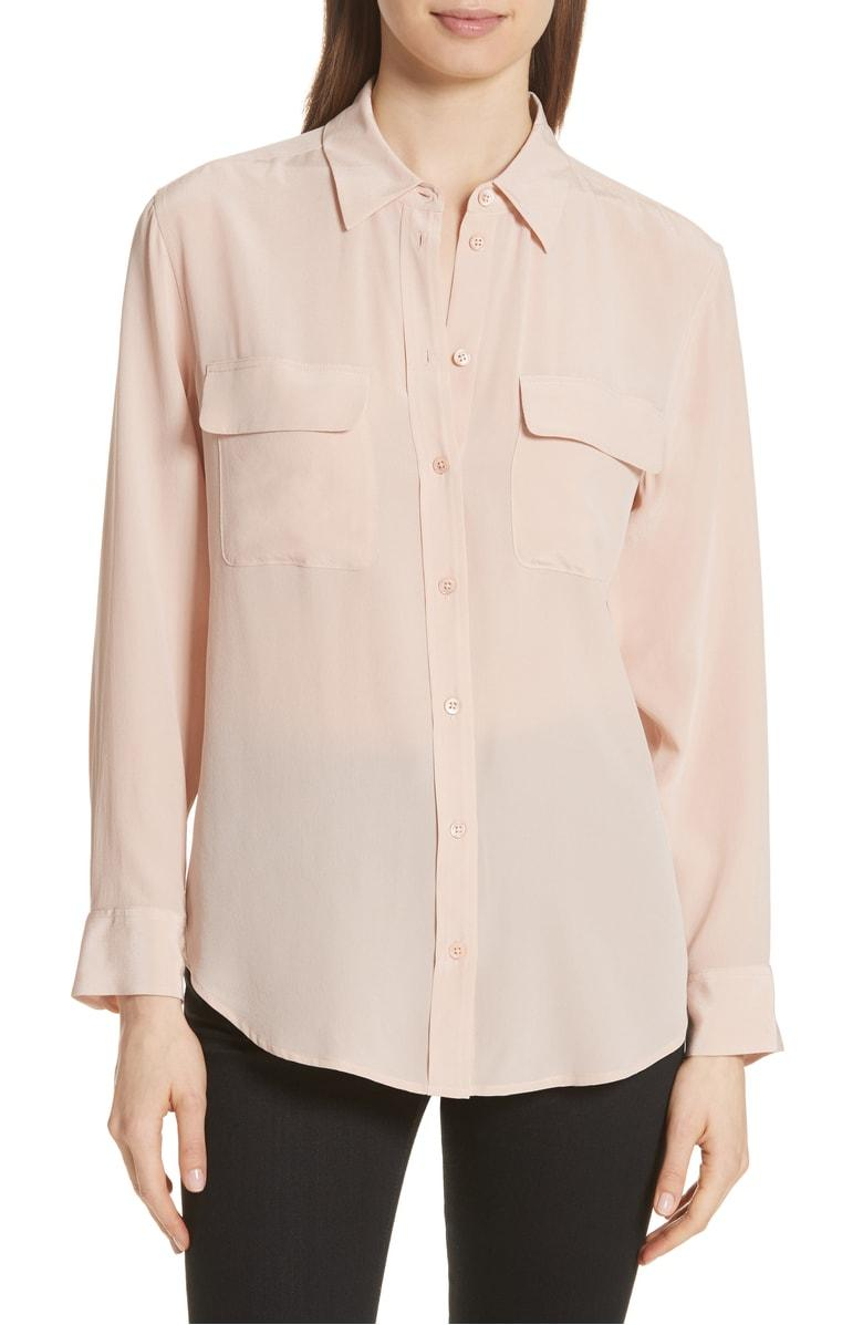 a19a6a829ac49 Style Name  Equipment  slim Signature  Silk Shirt. Style Number  905299.  Available in stores.