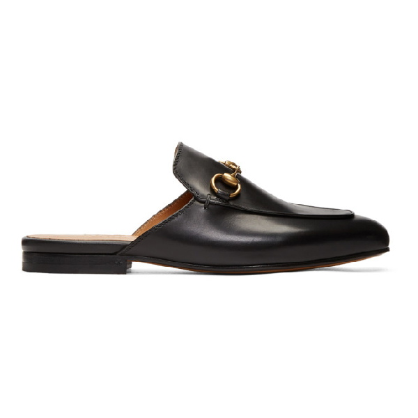 Gucci Princetown Horsebit-detailed Leather Slippers In 1000 Black