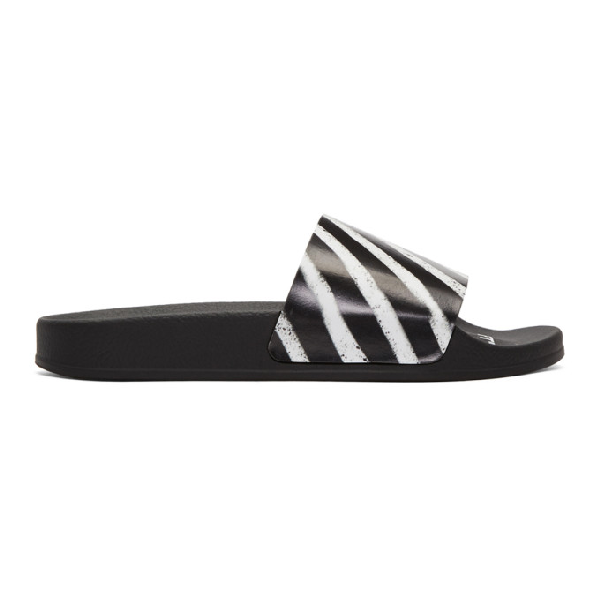 Off-white Off Spray Printed Rubber Slides In 8800 Multi