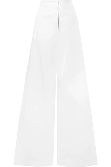 Emilio Pucci Pleated Crepe Straght-leg Pants In White