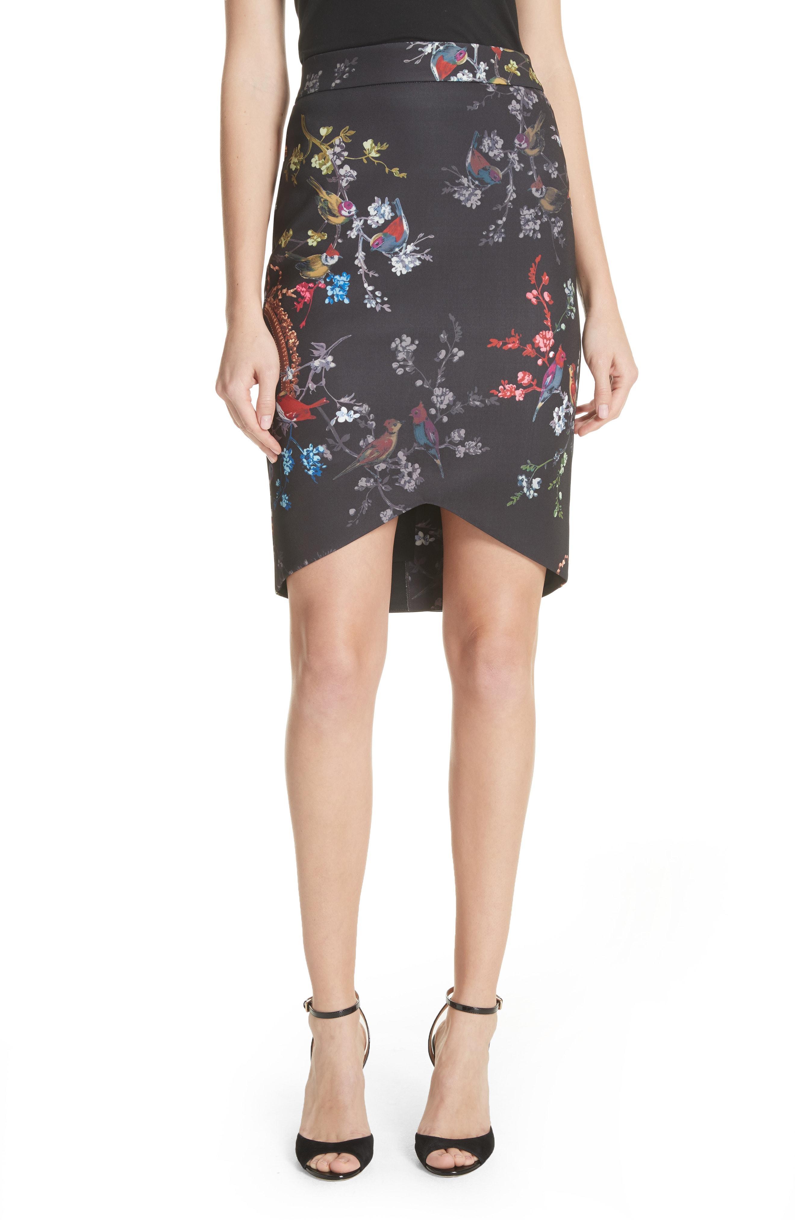 33d30f70d243 Ted Baker Opulent Fauna Pencil Skirt In Black