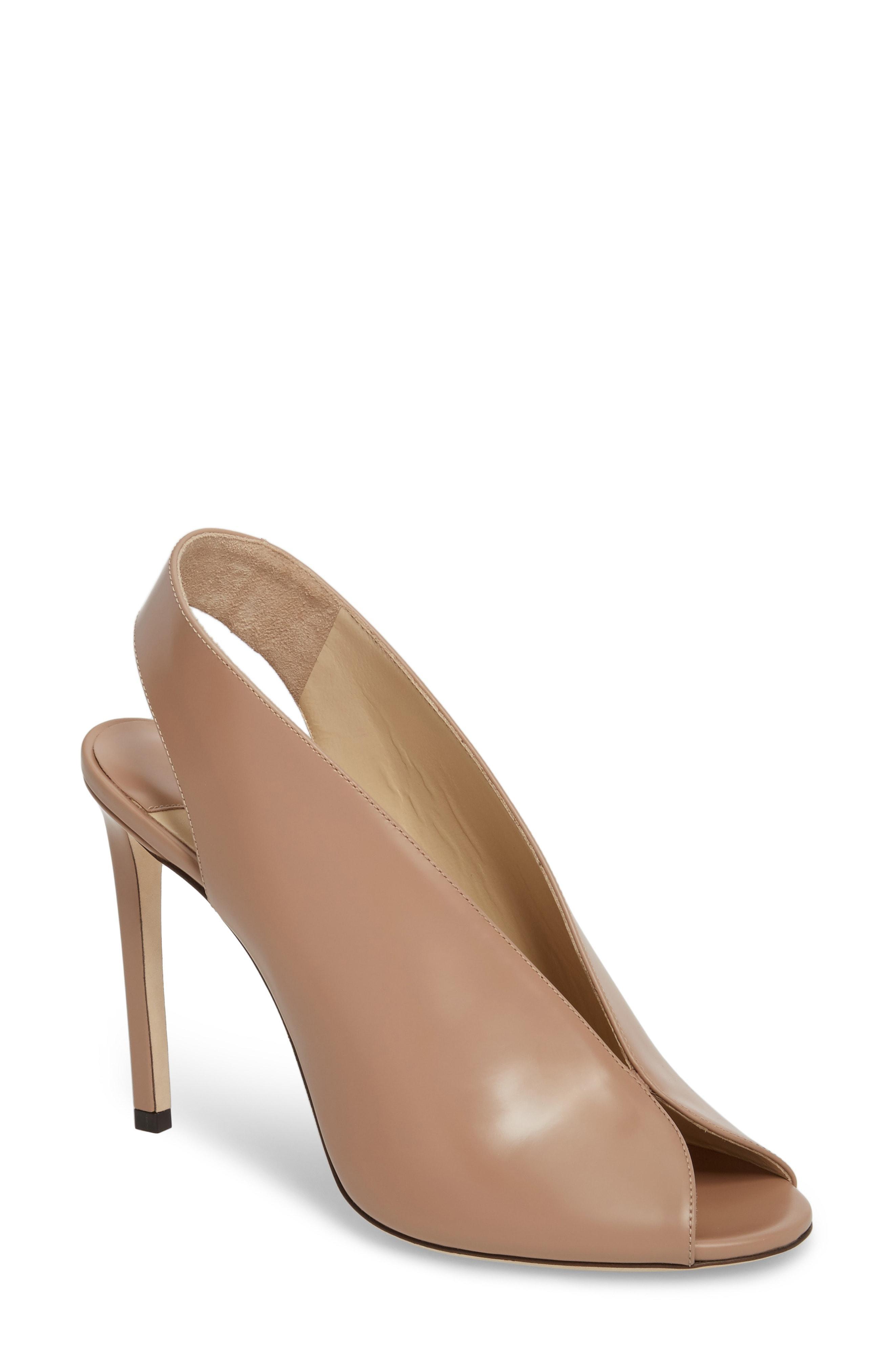 4fb3c151bd9f Jimmy Choo Shar 85 Ballet Pink Liquid Leather Sandal Booties