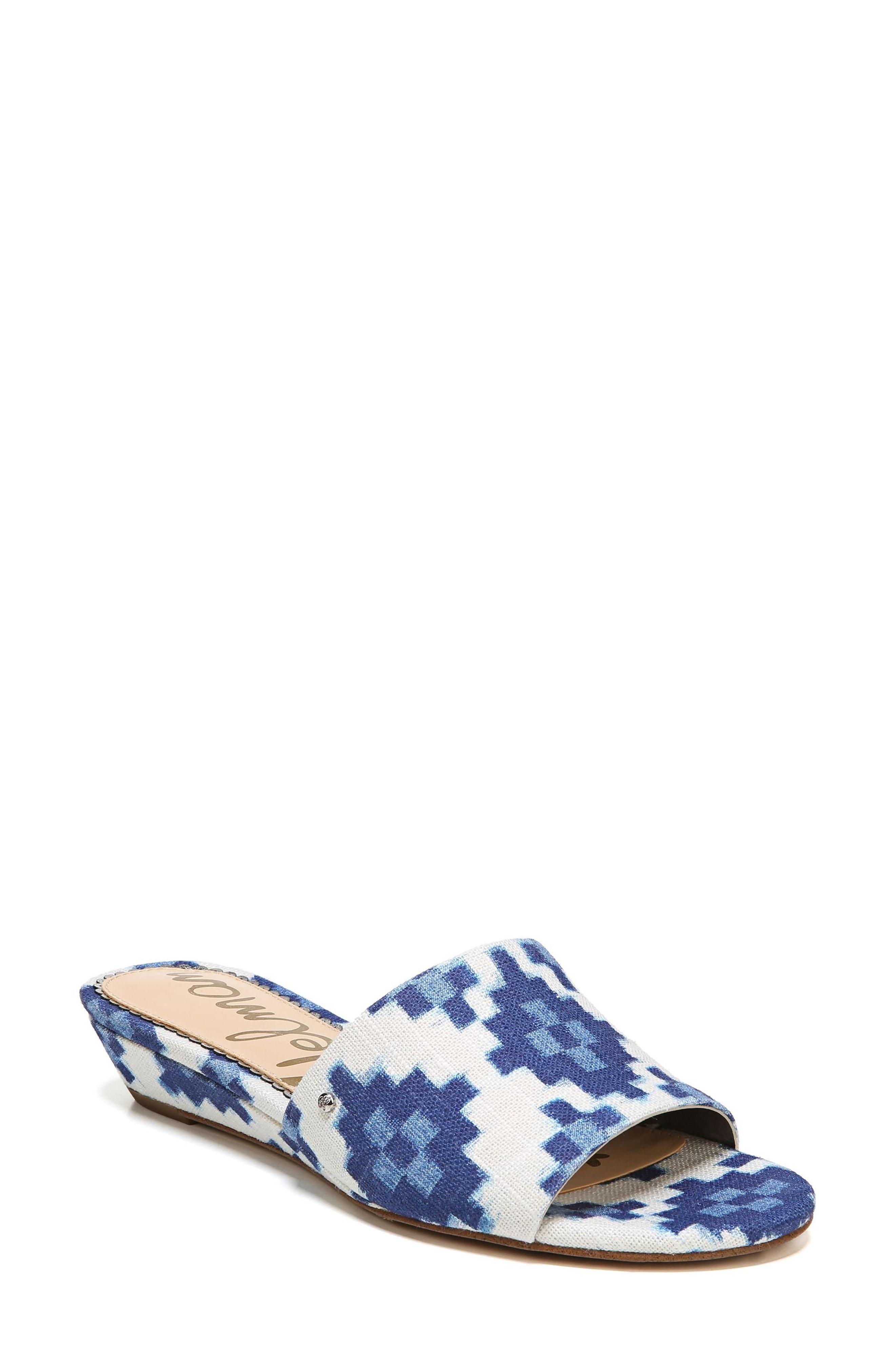 6f943afc8e3d Sam Edelman Liliana Slide Sandal In Blue Multi Print