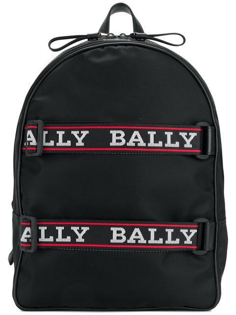 1a9da31443 Bally Nylon Backpack W  Logo Straps In Black