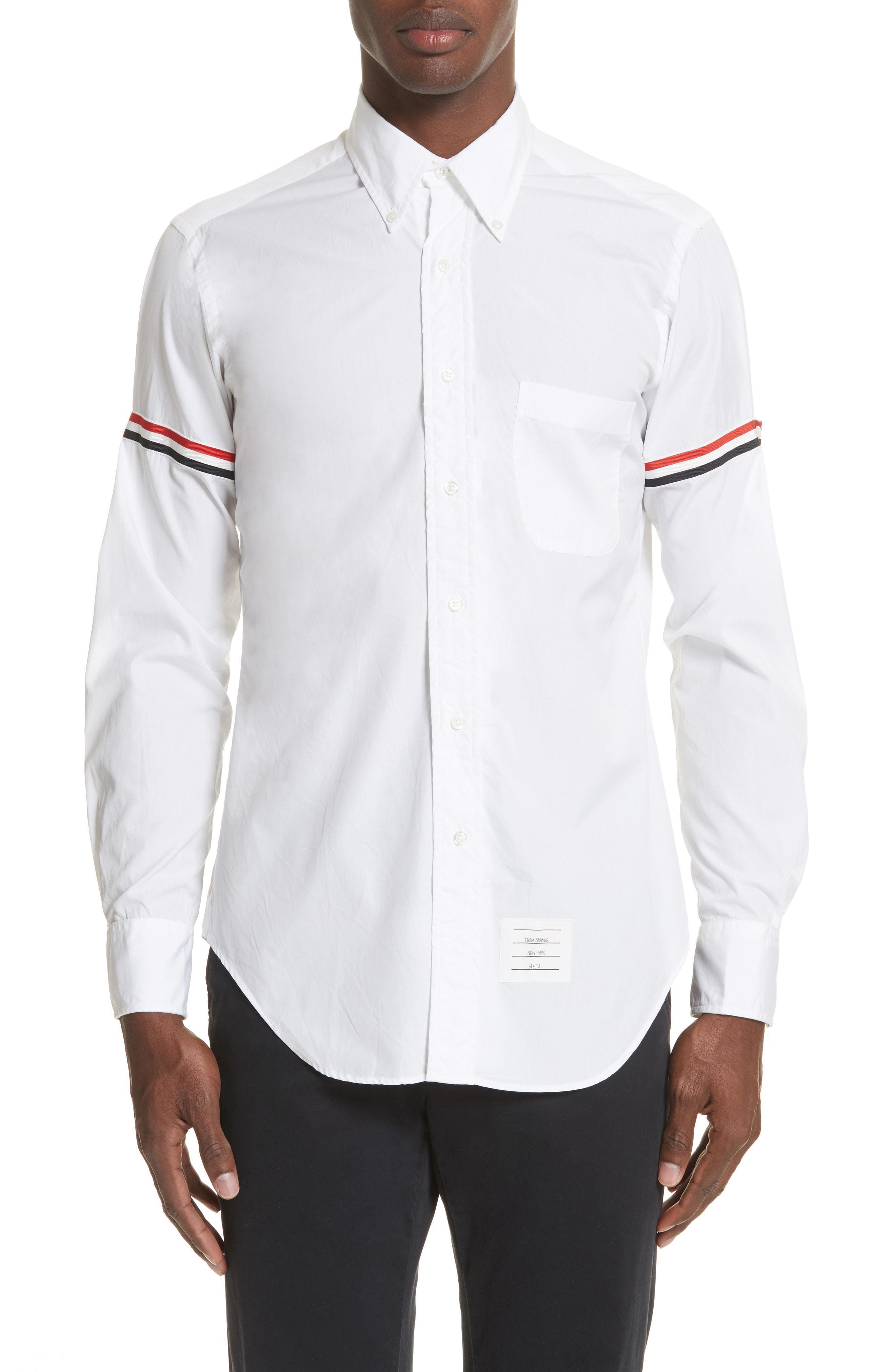 5a182922f089 Thom Browne Slim-Fit Button-Down Collar Grosgrain-Trimmed Cotton Oxford  Shirt -