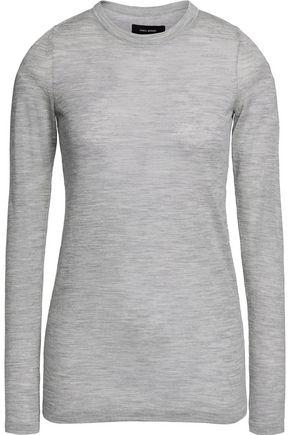 Isabel Marant Woman Andy Merino Wool Sweater Light Gray In Stone