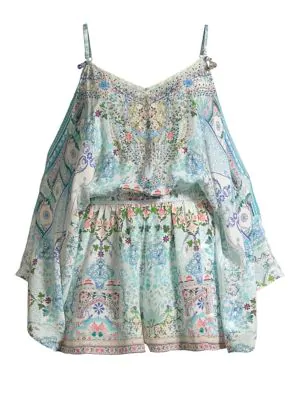 8e454917ee8 Camilla Tiny Dancer Drop-Shoulder Playsuit In Multi