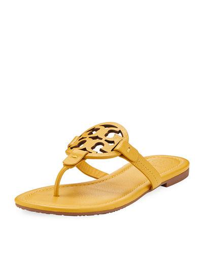f5402a2a6eb Tory Burch Women s Miller Leather Thong Sandals In Yellow