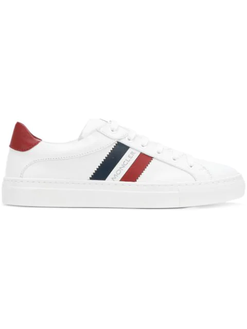 Moncler Low-top Sneakers Ariel Calfskin Logo White