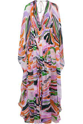 272425c0acddc Emilio Pucci Printed Butterfly Silk Chiffon Dress In Lavender | ModeSens