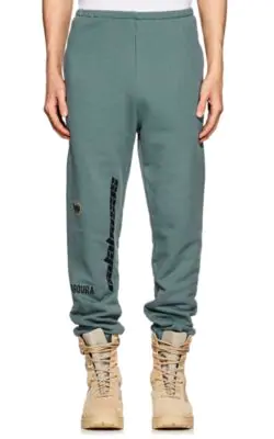 301e4914c Yeezy Opening Ceremony Embroidered French Terry Sweatpants In Blue ...