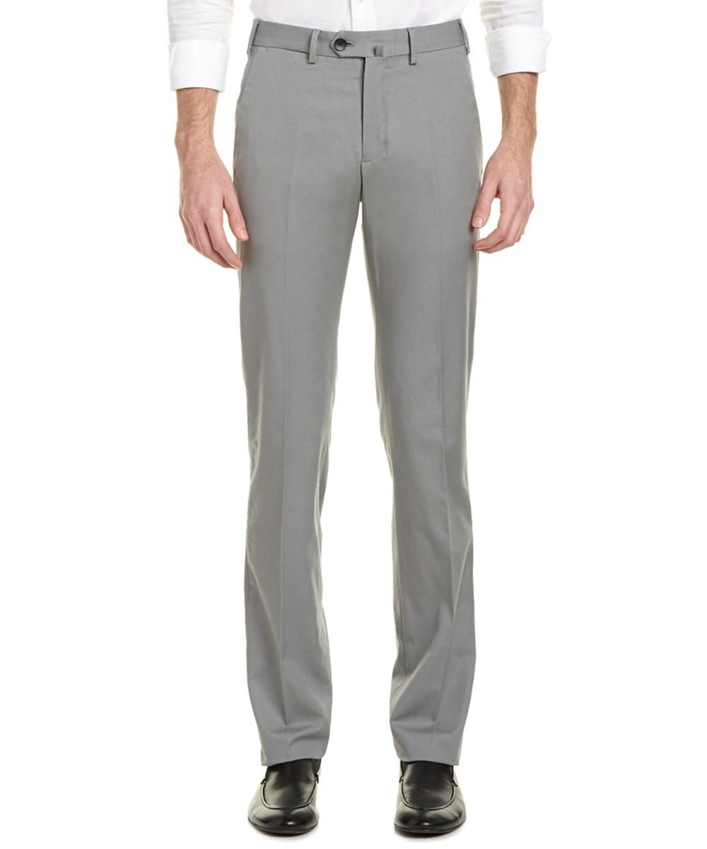 Armani Collezioni Cotton-blend  Trouser In Grey