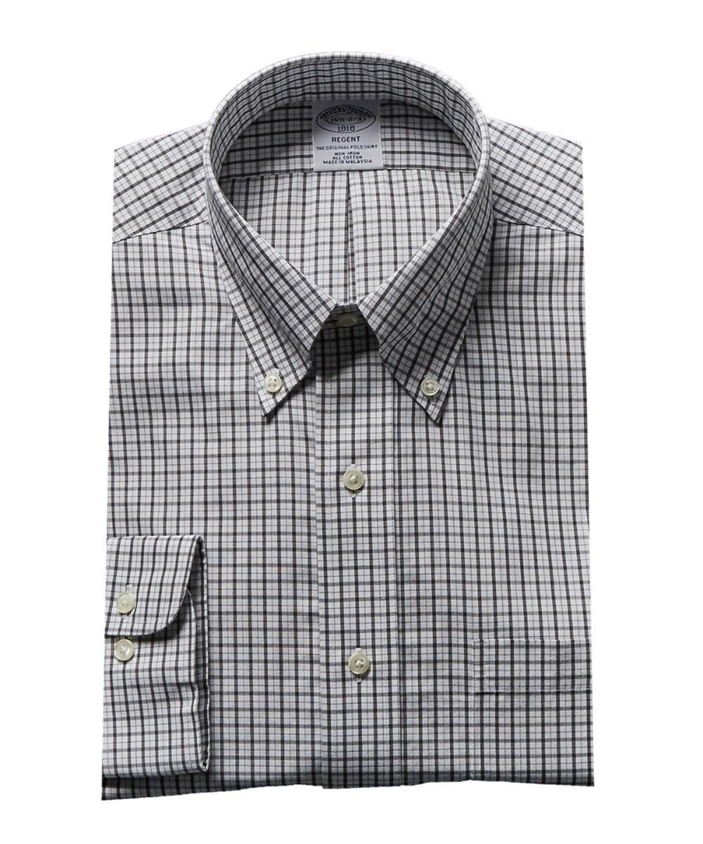 Brooks Brothers Regent Fit Dress Shirt In Black
