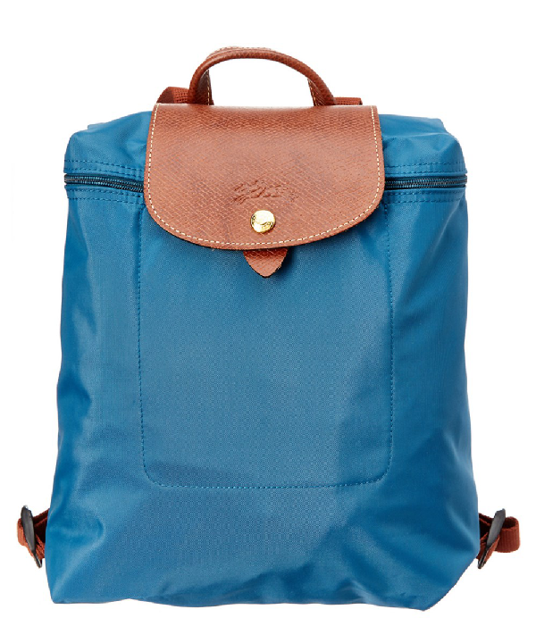 Longchamp Le Pliage Nylon Backpack In Peacock