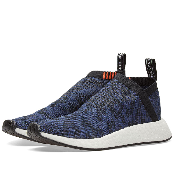 Adidas Originals Nmd Cs2 Shadow Knit Sneakers In Navy - Navy In Cnf