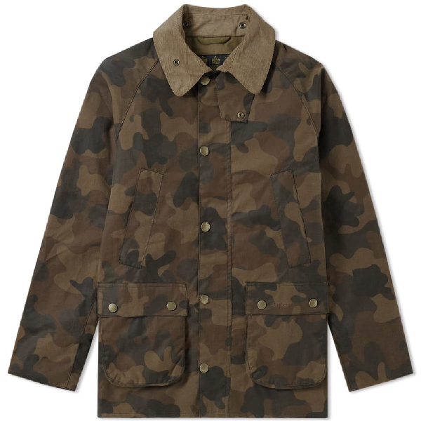 79c224e669b80 Barbour Heritage Waxed Camo Sl Bedale Jacket In Green | ModeSens
