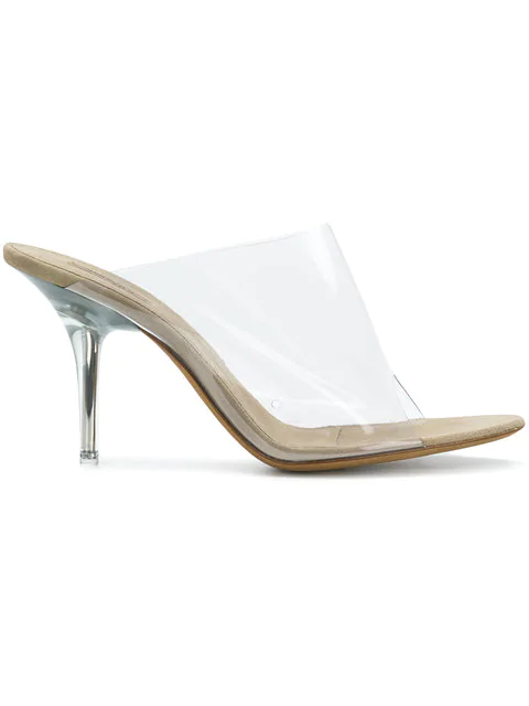 cecffcb18b7 Yeezy Transparent Mules (Season 6) In White