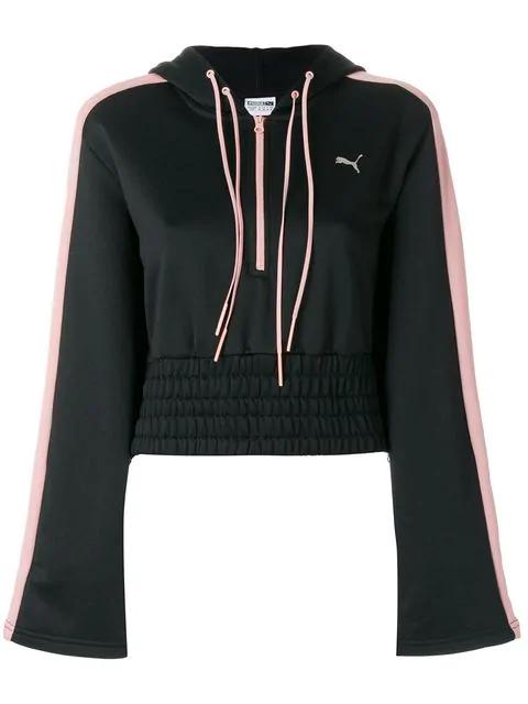 f16cf4dbc Puma En Pointe Savannah Cropped Hooded Sweatshirt In Black | ModeSens