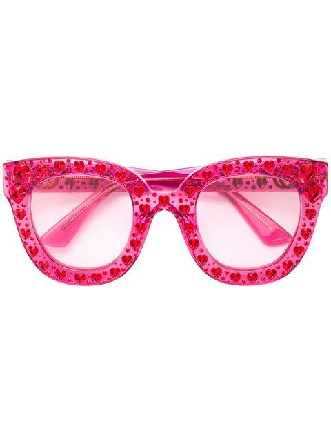3e7c311a7bcb Gucci Crystal-Embellished Square-Frame Acetate Sunglasses In Bubblegum