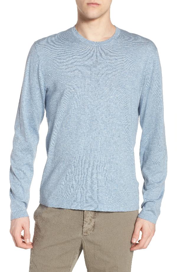 James Perse Fine Gauge Crewneck Sweater In Heather Sky Blue