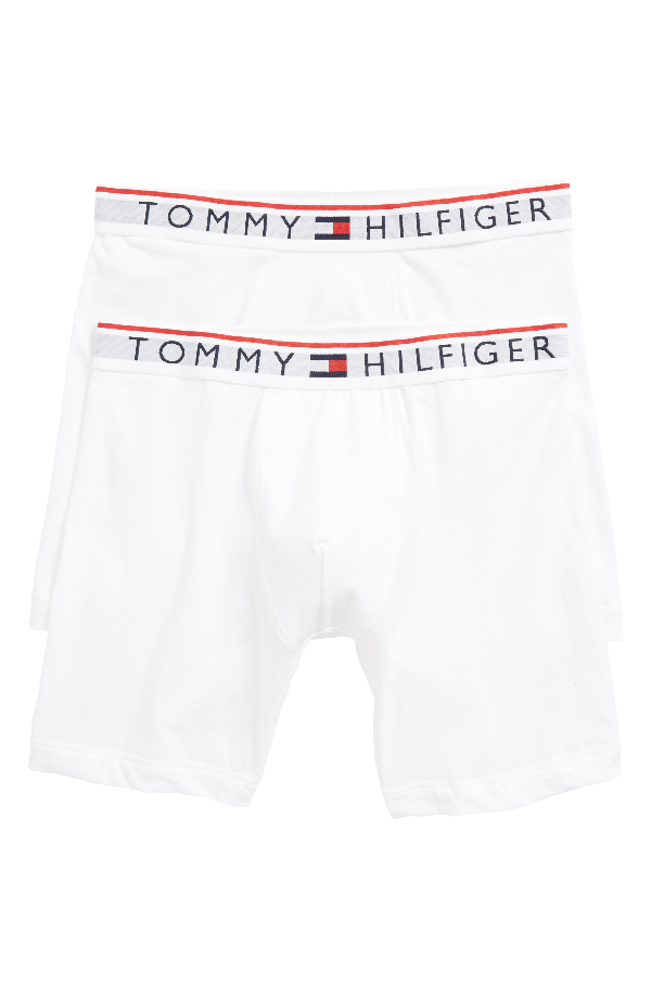 c63c9585305 Tommy Hilfiger Men s 2-Pk. Modern Essentials Boxer Briefs In White ...