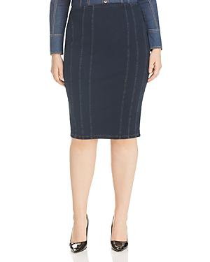 4a7335f6a6 Marina Rinaldi X Ashley Graham Canada Denim Pencil Skirt In Navy ...