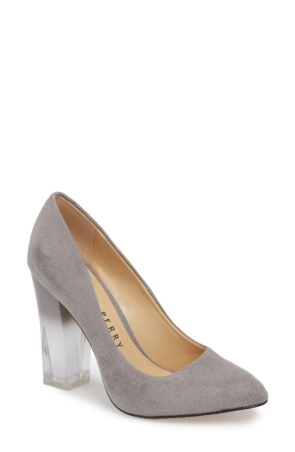 7e9305e9c42 Katy Perry A.W. Lucite-Heel Pumps Women s Shoes In Dark Nickel ...