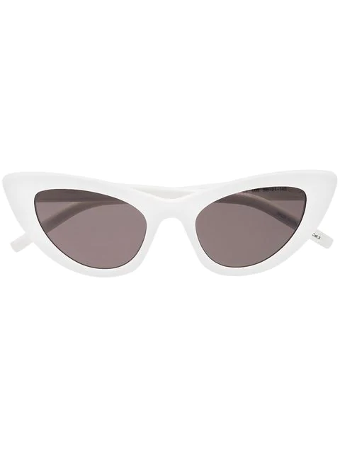 Saint Laurent Lily Cat-Eye Acetate Sunglasses, Ivory In 005
