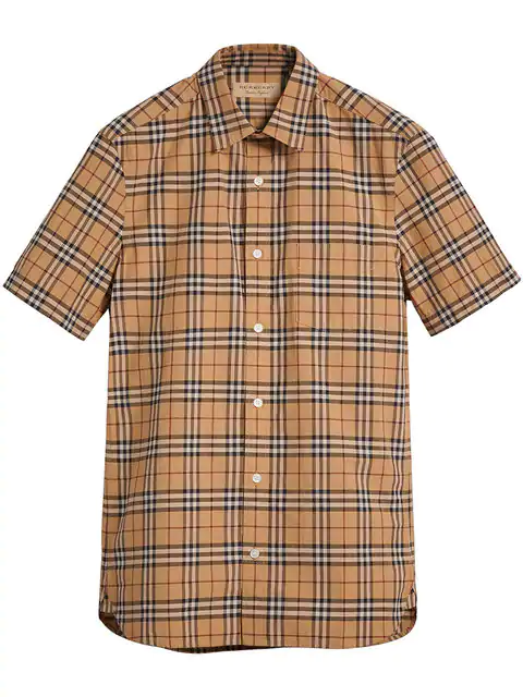 Burberry Alexander New Core Check Regular Fit Button-down Shirt In Brown