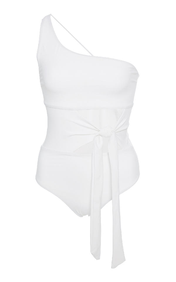 9e69fee6fc4 Jade Swim Collision Cutout One Piece Swimsuit In White | ModeSens