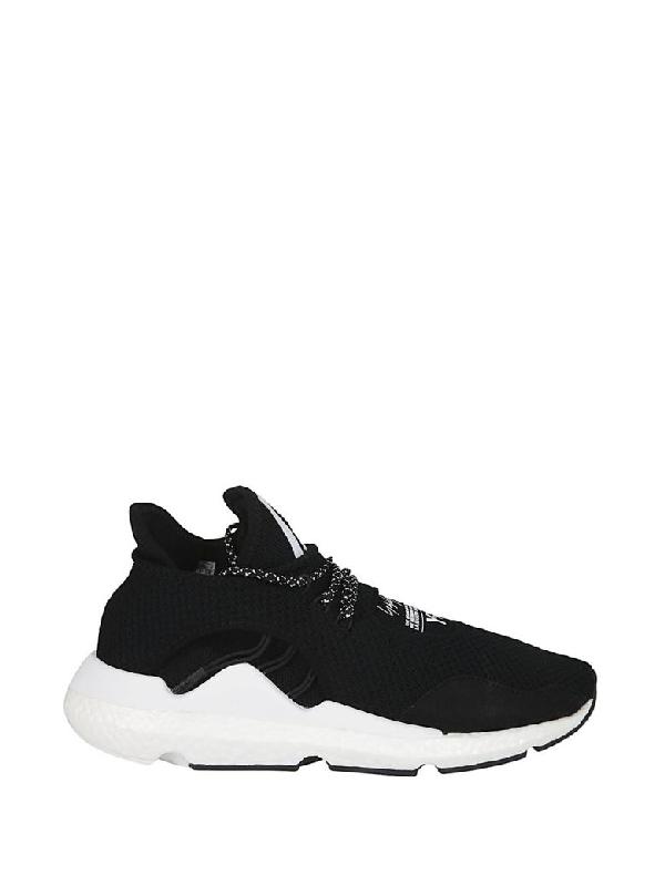 8940f753856ce Y-3 Saikou Suede-Trimmed Primeknit Sneakers - Black