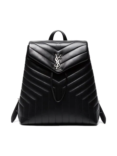 7b97c634f Saint Laurent Loulou Monogram Ysl Medium Quilted Leather Backpack In Black