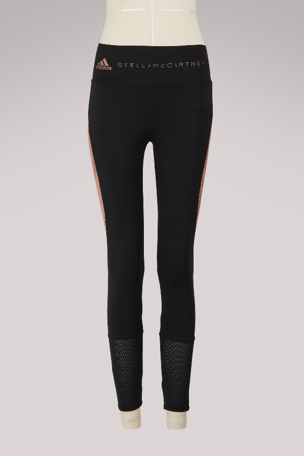 84ef36ba8e3678 Adidas By Stella Mccartney Yoga Comfort Colorblock Performance Tights In  Navy