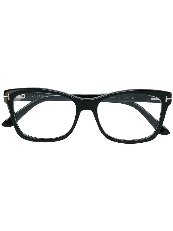7c4f6c2b869 Tom Ford Slight Rounded Square Optical Frame In Black