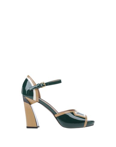 Marni Varnished Pumps In Dark Green