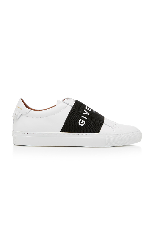 Givenchy Urban Street Logo-print Leather Slip-on Sneakers In White ,black