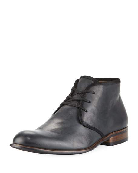 afacb498436 SEAGHER LEATHER CHUKKA BOOT