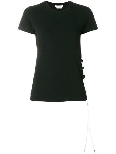 Alyx Metallic Lace T-Shirt In Black